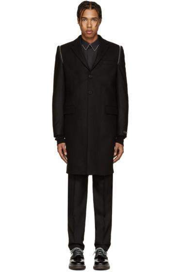 Givenchy - Black Wool Zippered Coat
