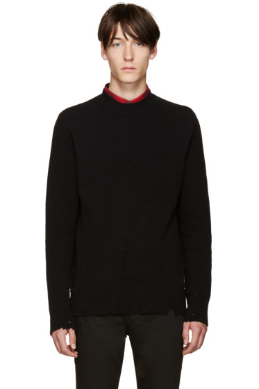 Givenchy - Black Wool Destroyed Sweater