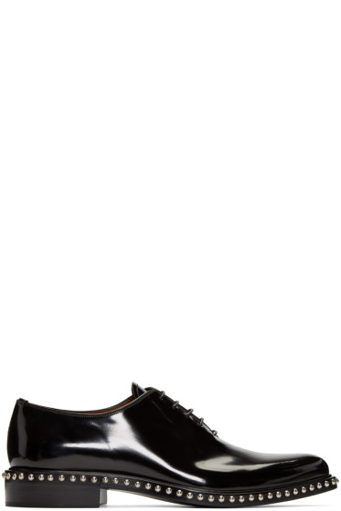 Givenchy - Black Studded Oxfords