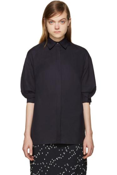 3.1 Phillip Lim - Navy Poplin Shirt