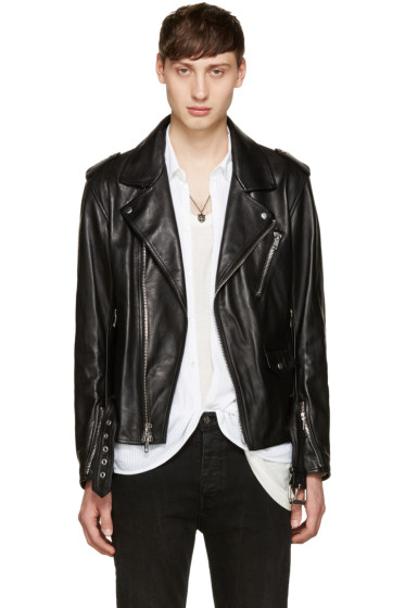 3.1 Phillip Lim - Black Leather Biker Jacket