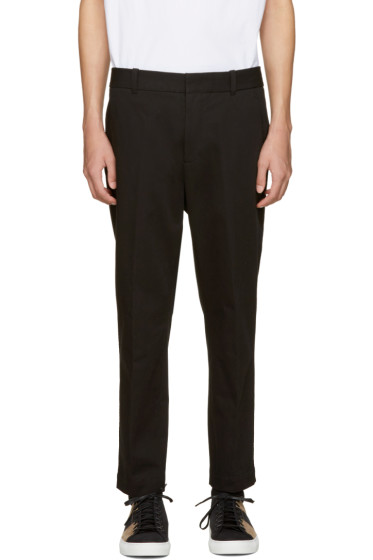 3.1 Phillip Lim - Black Cropped Sadle Trousers