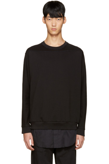 3.1 Phillip Lim - Black Shirt-Tail Pullover