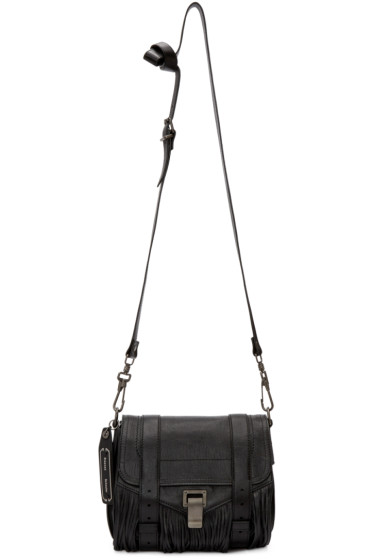 Proenza Schouler - Black Fringed PS1 Pouch Bag
