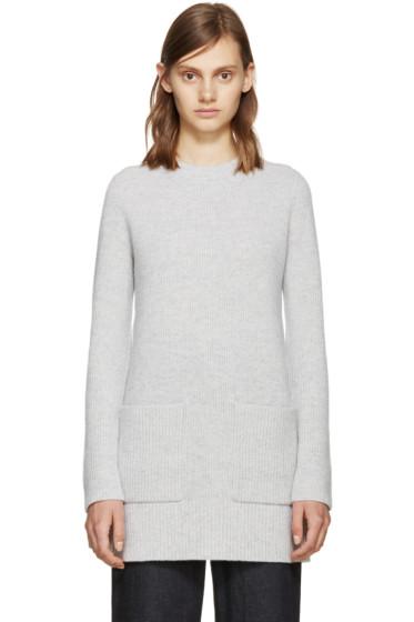 Proenza Schouler - Grey Wool Knit Sweater