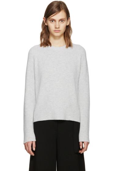 Proenza Schouler - Grey Wool Straps Sweater