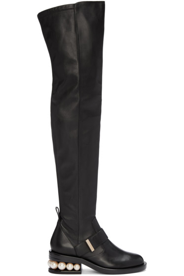 Nicholas Kirkwood - Black Casati Over-The-Knee Boots
