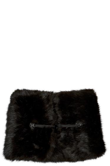 Carven - Black Faux-Fur Collar