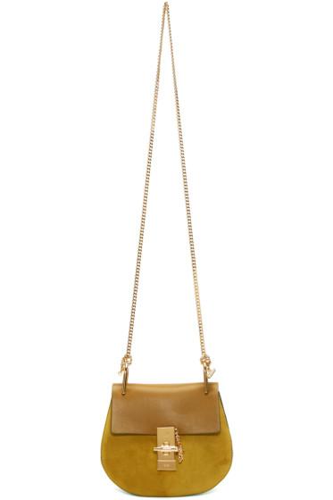 Chloé - Brown & Yellow Small Drew Bag