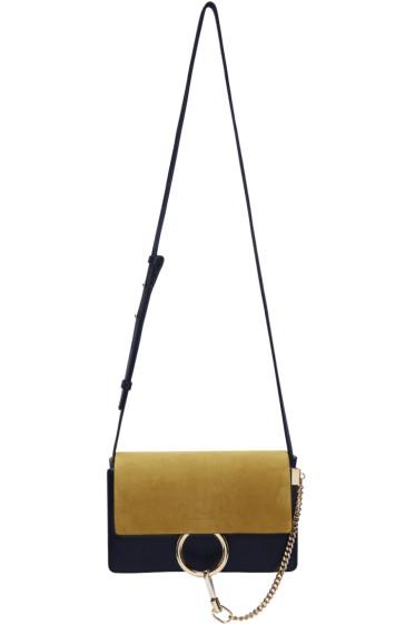 Chloé - Navy & Yellow Small Faye Bag