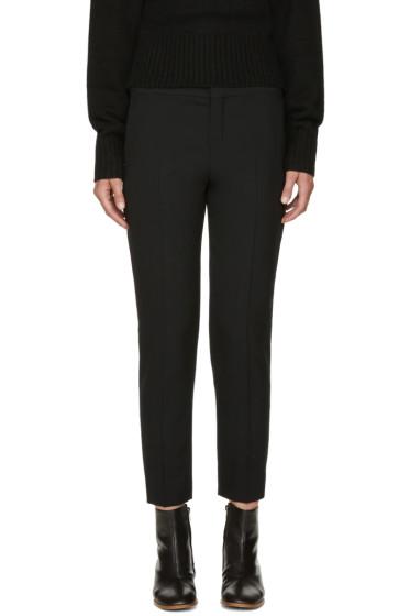 Chloé - Black Stretch-Wool Trousers