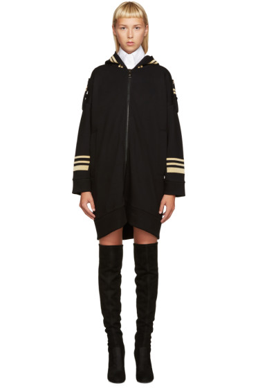 Neil Barrett - Black Oversized Military Hoodie