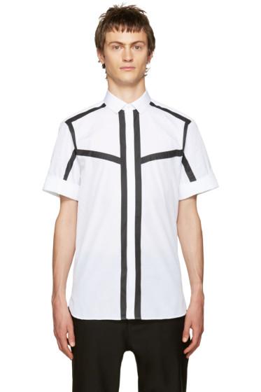 Neil Barrett - White & Black Poplin Striped Shirt