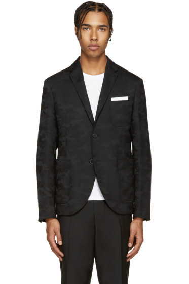 Neil Barrett - Black Camo Blazer