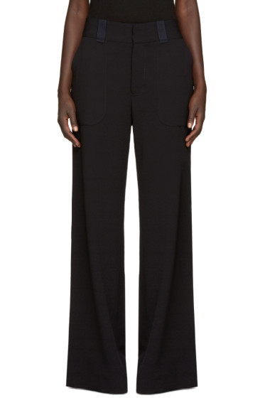 See by Chloé - Navy Wide-Leg Trousers