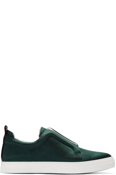 Pierre Hardy - Green Satin Slider Sneakers