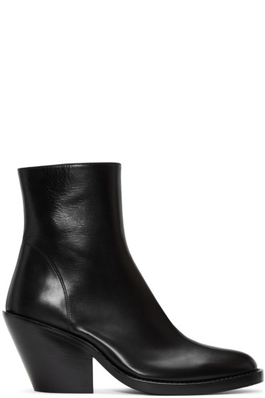 Ann Demeulemeester - Black Leather Boots