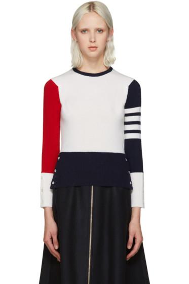 Thom Browne - Tricolor Cashmere Sweater