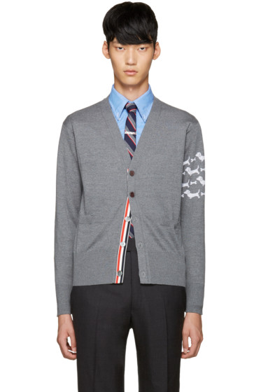 Thom Browne - Grey Hector Arm Band Cardigan