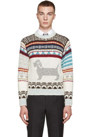 Thom Browne - Ivory Fair Isle Hector Sweater