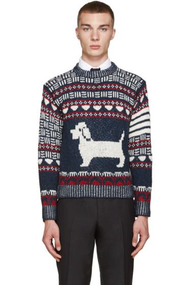 Thom Browne - Navy Fair Isle Hector Sweater