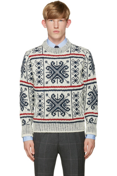 Thom Browne - Tricolor Mohair Sweater