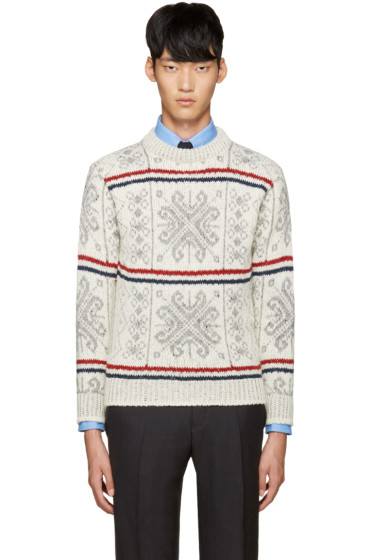 Thom Browne - Ivory Fair Isle Sweater