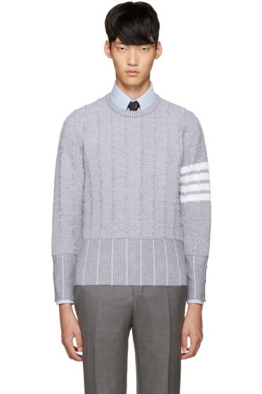 Thom Browne - Grey Wool Oxford Sweater