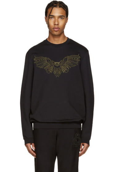 Markus Lupfer - Black Embroidered Owl Pullover