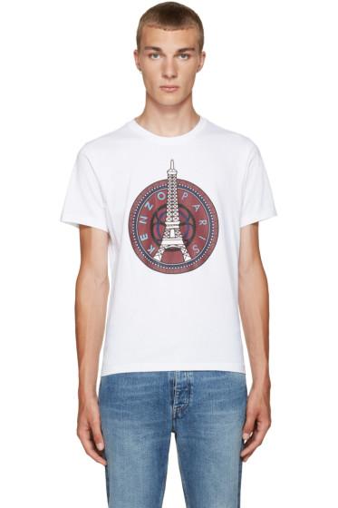 Kenzo - White Eiffel Tower T-Shirt