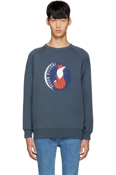 Maison Kitsuné - Blue Fox Moon Sweatshirt