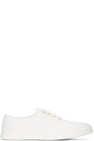 Maison Kitsuné - White Canvas Sneakers