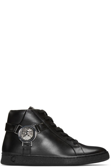Versus - Black Harness High-Top Sneakers