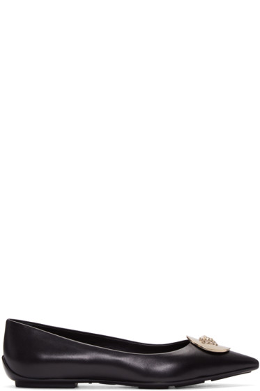 Versace - Black Medusa Medallion Ballerina Flats