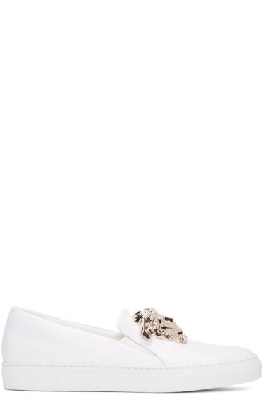 Versace - White Medusa Slip-On Sneakers
