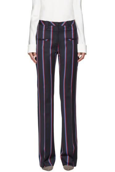 Altuzarra - Navy Striped Serge Trousers