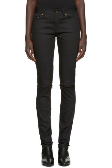 Saint Laurent - Black Destroyed Jeans