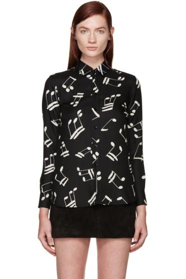 Saint Laurent - Black & White Music Notes Shirt