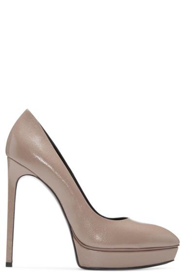 Saint Laurent - Brown Janis Heels