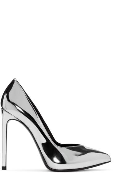 Saint Laurent - Silver Paris Skinny Heels