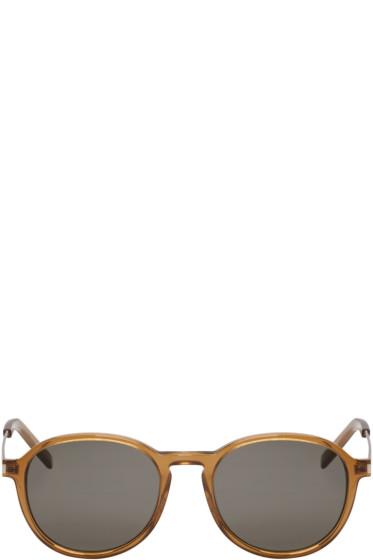 Saint Laurent - Brown Panthos SL 110 Sunglasses