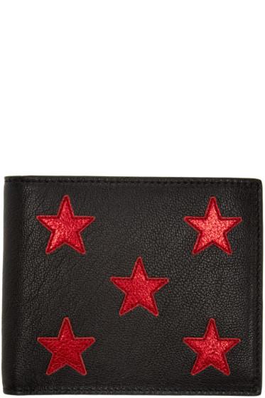 Saint Laurent - Black & Red Stars Wallet