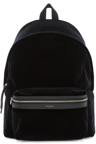 Saint Laurent - Black Velvet Backpack