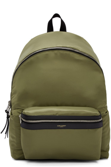 Saint Laurent - Green Canvas Backpack