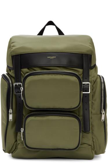 Saint Laurent - Green Nylon Hunting Backpack