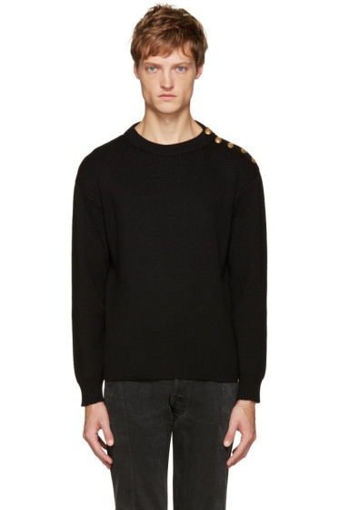 Saint Laurent - Black Buttoned Sweater