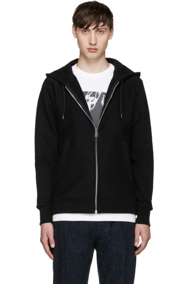 PS by Paul Smith - Black Basic Zip-Up Hoodie