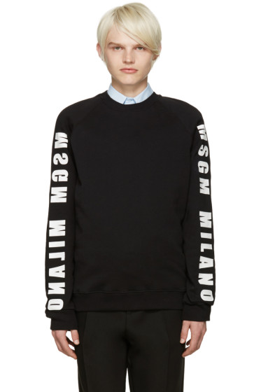 MSGM - Black Logo Sweatshirt