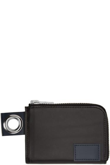Sacai - Black Zip Wallet