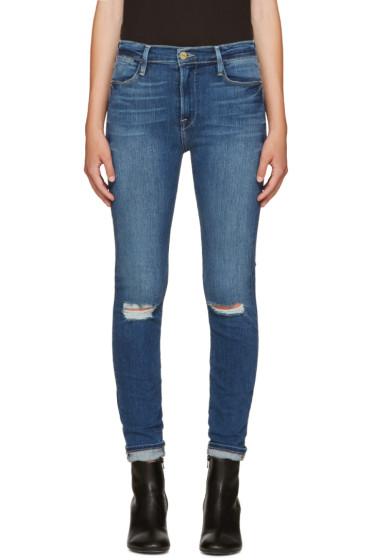 Frame Denim - Blue Le High Skinny Jeans